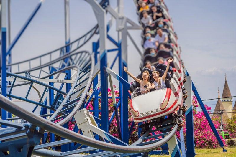 amusement park rollercoaster