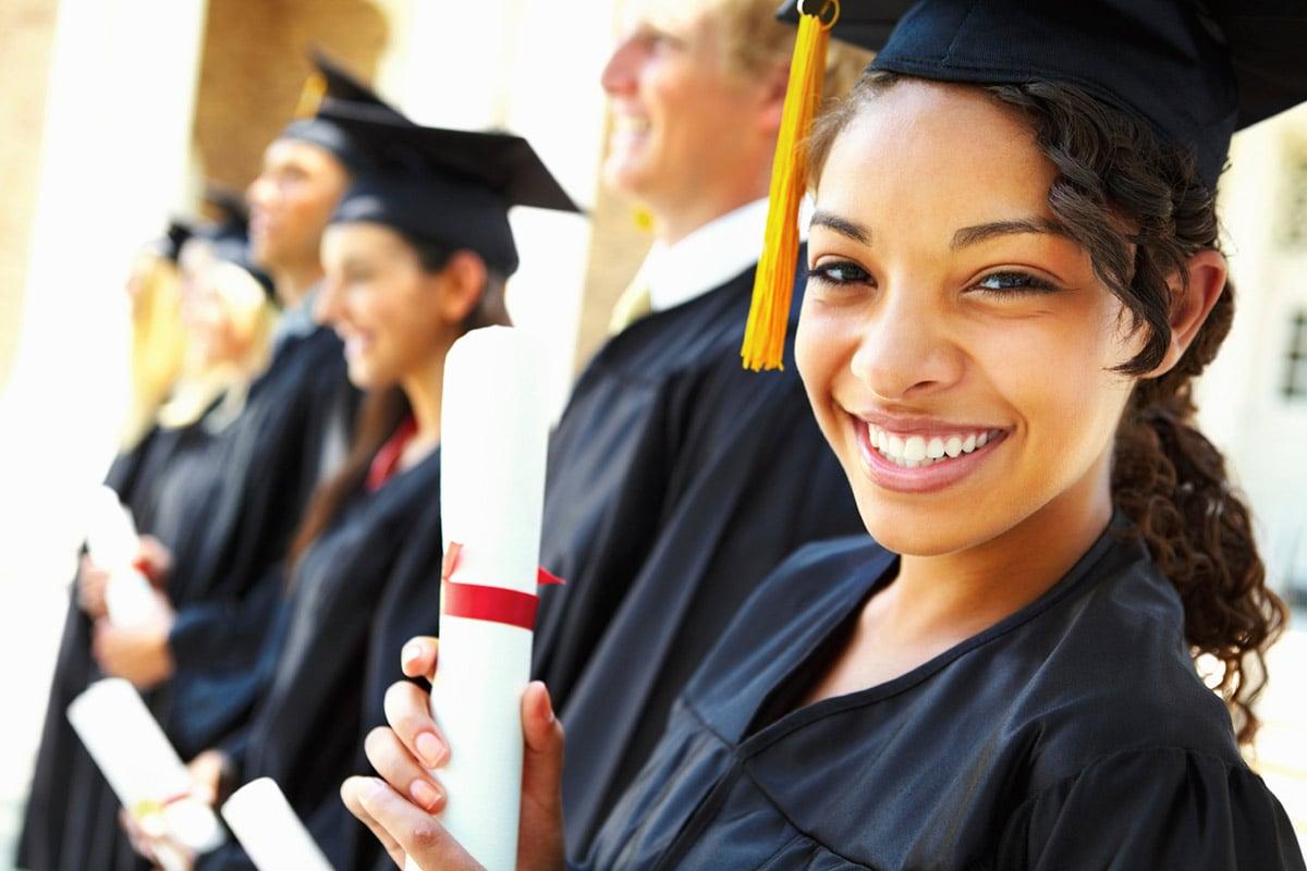 happy woman graduate